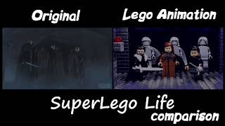 LEGO Game of Thrones Stop Motion Comparison | Crypts of Winterfell
