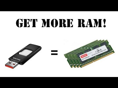 How to get more ram with an usb flash drive!