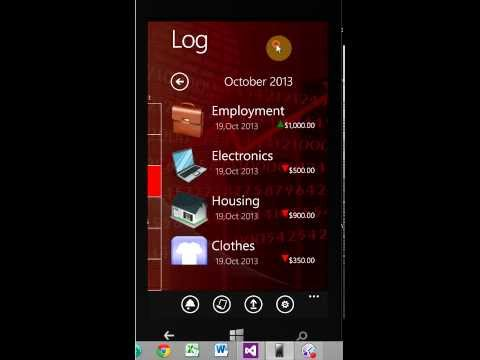 Financial DiaryTutorial Windows 8 Phone App