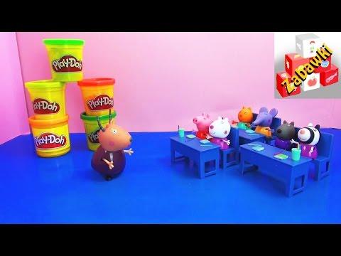 Peppa Pig - Zdrowe Odżywianie - Poznajemy Rodzaje Warzyw Ze świnką Peppą I Klasą Pani Gazelli