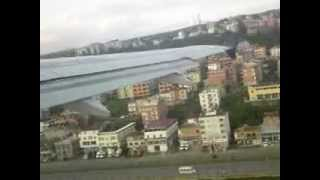 Flying from Trabzon, Turkey
