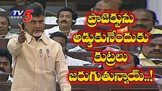 AP CM Chandrababu Naidu Complete Report about Polavaram Project In Assembly