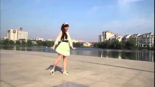 Cute Japanese Girl Dancing on the Street