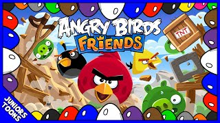 ANGRY BIRDS FRIENDS ANIMATED SURPRISE EGGS | Learn Colors | Juniors Toons | #AngryBirds