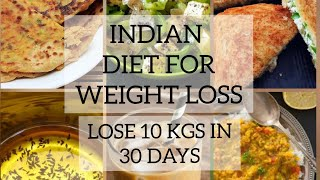 Indian weight loss diet plan/meal plan l Super weight loss roti recipe to lose 10 KGS in 30 days