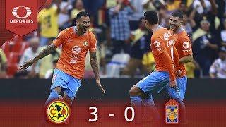 Resumen: América 3 - 0 Tigres | Clausura 2019 - J12 | Presentado por Corona