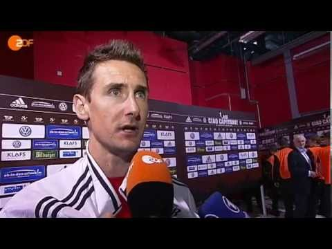 Ciao Capitano! Post match interview on Miro Klose