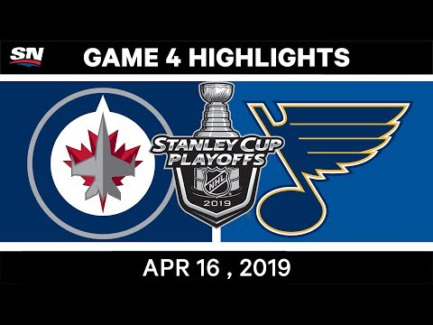 NHL Highlights | Jets Vs Blues, Game 4 – April 16, 2019