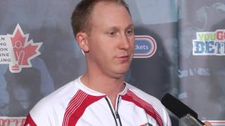 Draw 11 Media Scrum - 2013 Ford World Men&#039;s Curling Championship