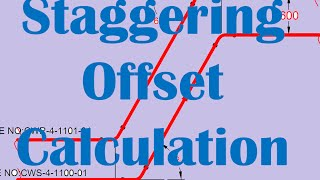 Staggering Offset Calculation_Two Parallel Pipe in Rolling