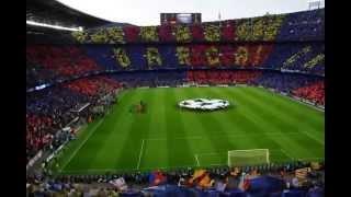Champions League Anthem, camp nou, Barcelona - Bayern, May 2013