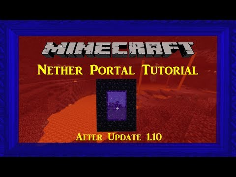 Minecraft Tutorial: How to Make a Portal to the Nether