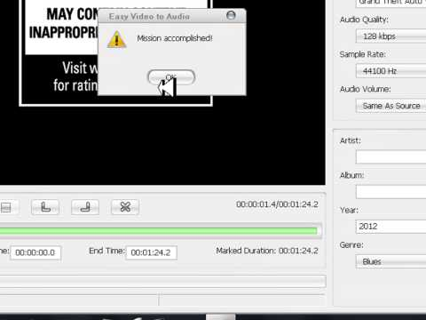 Convertidor de Formatos con el programa Easy Video to Audio Converter 1 link