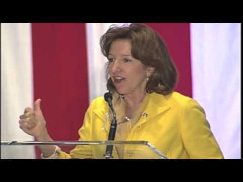 US Senator Kay Hagan at the 2013 Jefferson-Jackson Dinner