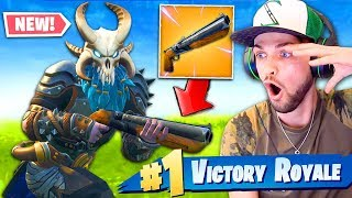 *NEW* LEGENDARY DOUBLE-BARREL SHOTGUN gameplay in Fortnite: Battle Royale!