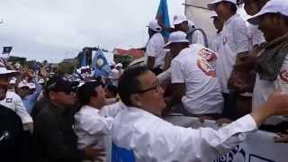 cpp supporter welcome Sam Rainsy Kem Sokha