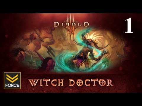 Diablo 3 Beta - Witch Doctor Gameplay (Commentary) Part 1