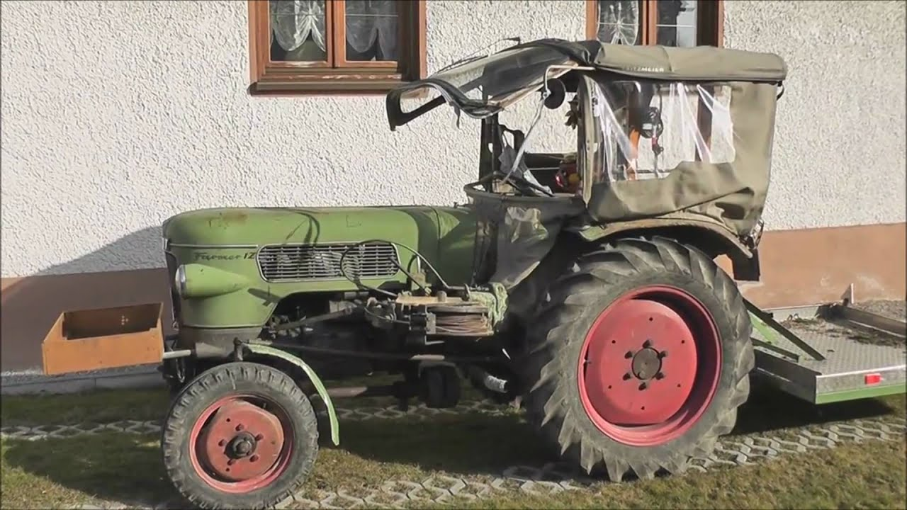 fendt farmer 1z traktor mit seilwinde youtube. Black Bedroom Furniture Sets. Home Design Ideas