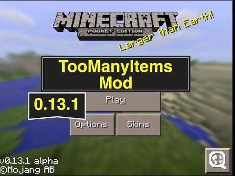 Minecraft PE 0.13.1 Showcase [TooManyItems Mod]