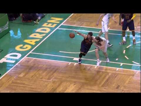 Kevin Love left shoulder injury Kelly Olynyk: Cleveland Cavaliers at Boston Celtics Game 4