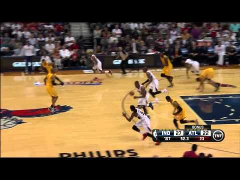 NBA, playoff 2014, Pacers vs. Hawks, Round 1, Game 4, Move 18, DeMarre Carroll, save