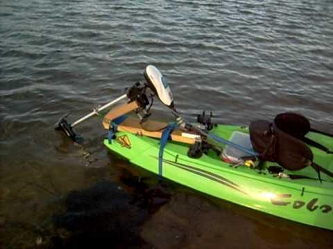 The Way I Setup My Cobra Trolling Motor Kayak Youtube