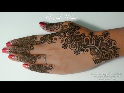 7. Henna/Mehndi Design by Elegant Henna