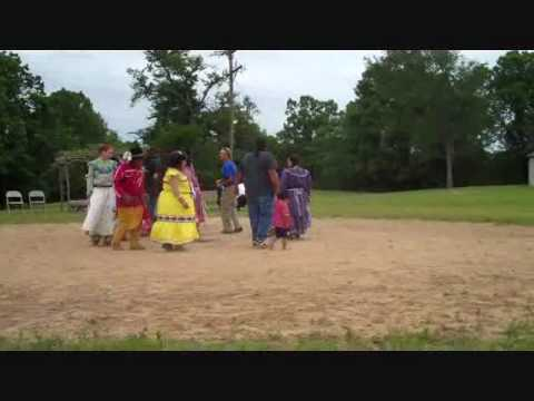 Chickasaw Dance Troupe Demonstration at Elders Day May 2010 - Video 1