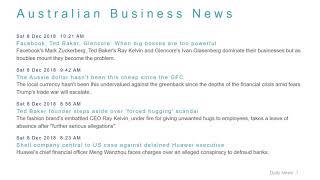 Business News Headlines for 8 Dec 2018 - 1 PM Edition