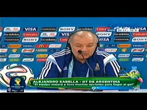 ARGENTINA 3 VS NIGERIA 2 Declaraciones Alejandro Sabella 2014