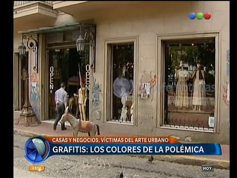Grafitis en casas y negocios - Telefe Noticias