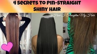 Secrets to Pin Straight Shiny Hair ♡ How I Straighten My Hair