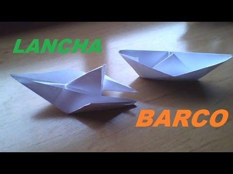LANCHA Y BARCO DE PAPEL (sencillo)