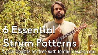 Beginner Ukulele Tutorial - Six Easy and Essential Strum Patterns