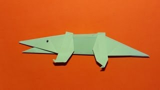 How To Make An Origami Alligator - Kirigami