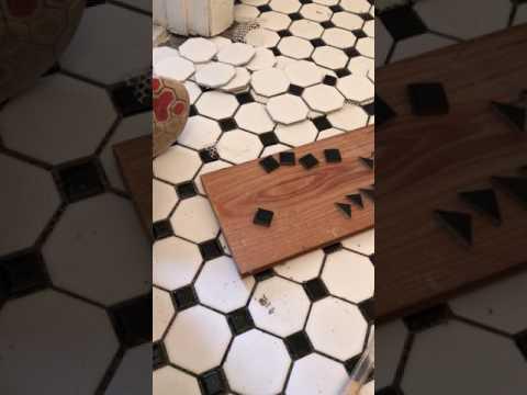 How to cut metal backsplash tile