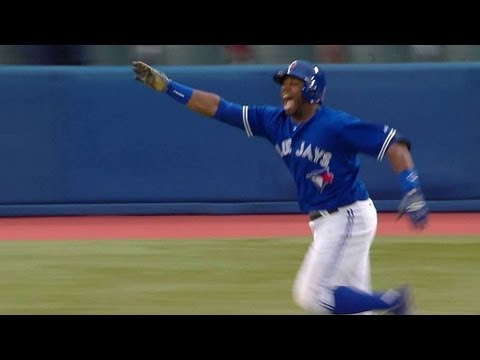 Rajai Davis' dramatic walkoff hit wins it in the 18th for the Blue Jays June 8 2013
