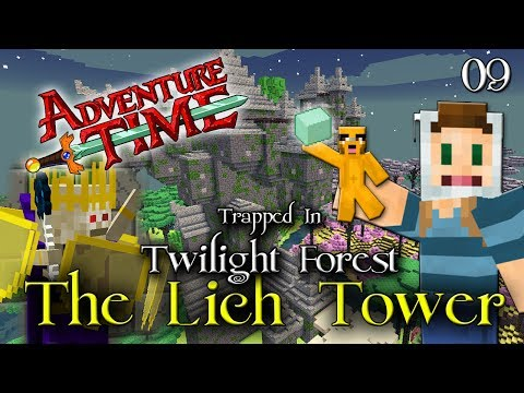 Adventure Time Minecraft : TRAPPED IN TWILIGHT FOREST Ep 09 The Lich Tower