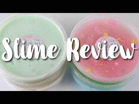 TRADING CUCUMBER MELON SLIME//100% HONEST SLIME REVIEW//SLIME TRADE WITH RACHELVIDS