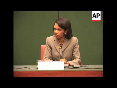 US Sec of State Rice visits Ethiopia, comments on Somalia, Iran