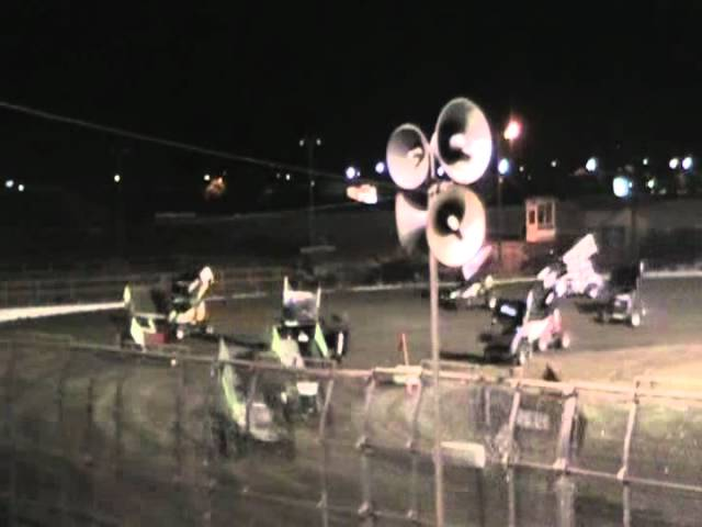 King of the West Sprint Car Wreck @ Silver Dollar Speedway 8/18/12