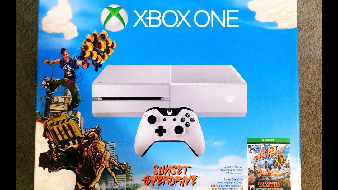 White Xbox One Sunset Overdrive Bundle Unboxing - YouTube