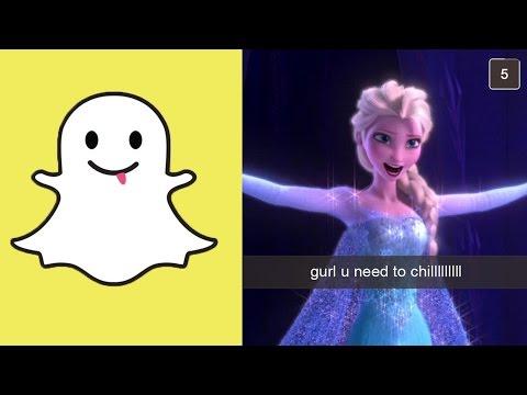 If Disney Princesses Had Snapchat