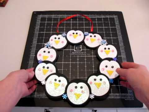Day 8 - Marion's 31 Day Challenge - My Daughter's Snow Day Activity - Penguin Wreath