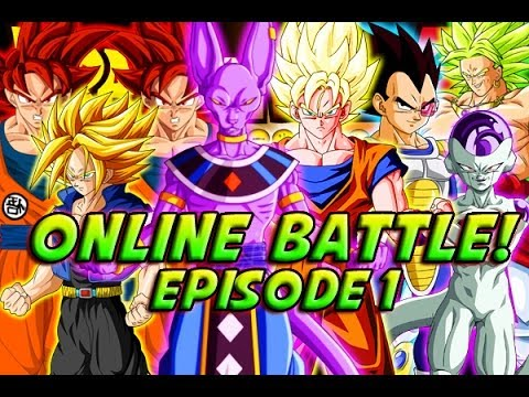 Dragonball Z: Boz - Online Battle! Bills, God Goku & Trunks Vs Broly, Vegeta, Frieza & Goku! video