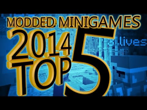 The Best Minecraft Modded Minigames of 2014 Compilation (Top 5)