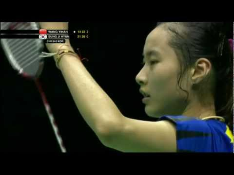 Finals - China (Wang Y.) vs Korea (Sung J.H.) - Uber Cup 2012