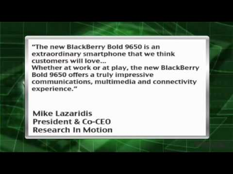 News Update: Research in Motion Ltd. Presents New BlackBerry Bold 9650 (RIMM)