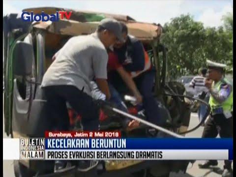 6 kendaraan terlibat kecelakaan beruntun di KM 22400 Jalan Tol Surabaya-Gempol arah Waru - BIM 02/05