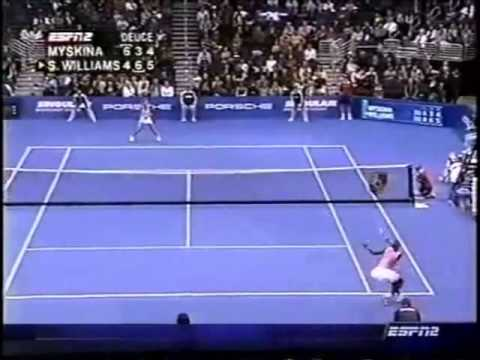 Serena Williams vs Anastasia Myskina 2004 YEC Great Point